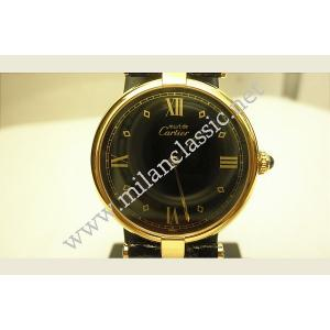 Cartier - Black Dial Leather Strap,
