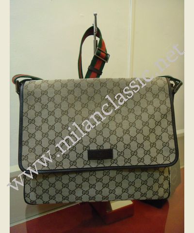 4eeb1d7d0c3 SOLD-Gucci Canvas GG fabric Messenger Men Sling Bag(Green