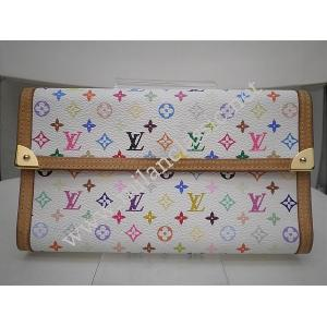 THAILAND - LV Multicolor White Long Wallet
