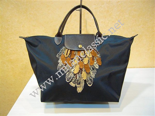 Sold Limited New Longchamp Black Le Pliage Feather