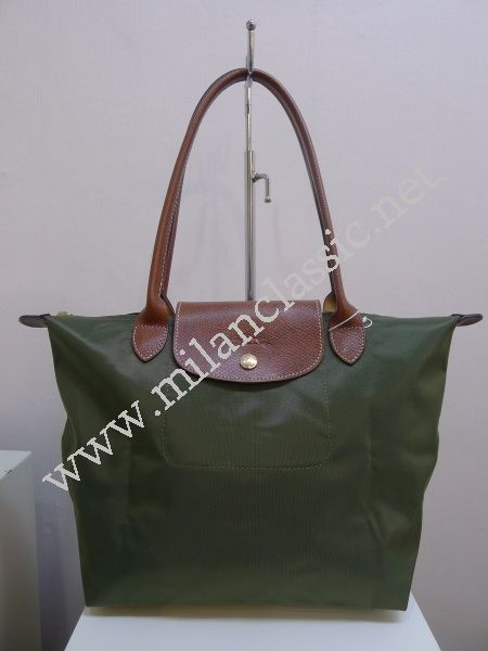 Sold 已售出 New Longchamp Le Pliage Khaki Long Handle