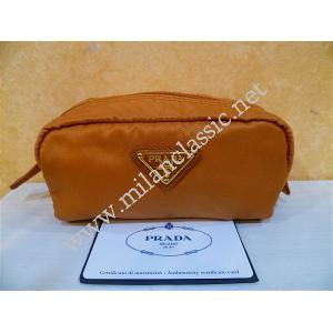 NEW - Prada Orange Nylon Small Pouch