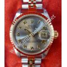 Rolex 69173 Ladies Grey Dial Roman Letter 18K+SS Auto 26mm (with Box)