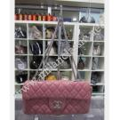 Chanel Classic Flap in Pink Lambskin With Silver Hardware
