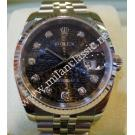 "Rolex 116234 Gents Black Computerized with Diamonds 18K+SS Auto 36mm ""D-Series""( with Card + Box)"