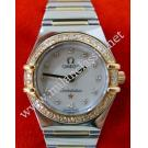 Omega Constellation Lady M.O.P With Diamonds 18K+SS Half Bar 22.5mm (with Box)