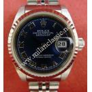 Rolex 79174 Ladies Blue Dial Roman Letter 18K+SS Auto 26mm (with Box)