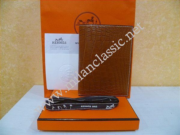 brighton purses knockoffs - NEW - Hermes MC2 Brown Alligator Wallet/Passport Holder ...