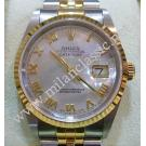 Rolex 16233 Gents White M.O.P Dial Auto 18K/SS 36mm (With Box + Paper)
