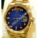 Rolex 18238 Two Tone Blue With Diamond Index Auto 18K Y/Gold 36mm ( With Box + Paper )
