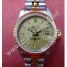 Rolex 69173 Ladies Gold Dial Index 18K+SS Auto 26mm (With Box)