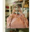 Miu Miu Purplish Pink Full Leather Shoulder Bag