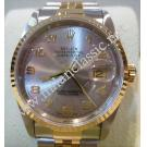 "Rolex 16233 Gents Rhodium Arabic Letter Dial Auto 18K/SS 36mm ""W-Series"" ( With Box )"