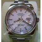 "Rolex 116200 Gents White Dial 36mm Auto ""V-Series"" (With Box)"