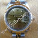 Rolex 69173 Ladies Gold Dial with Index 18K+SS Auto 26mm ( with Box )