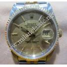 Rolex 16233 Gents Gold Dial With Index 18k+S/S Auto 36mm ( With Box )