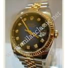 "Rolex 116233 Two-Tone Blue Diamond Auto 18K+SS 36mm ""V-Series"" (With Box)"