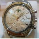 "Omega Speedmaster Moon Watch Moon Phases Hand Winding S/S 40mm-White Gold Bezel ""REF:3575.3000"" ( With Box + Card )"