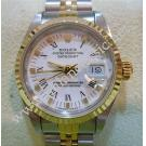 Rolex 69173 Lady 18K+SS White Roman Dial 26mm (With Box + Paper)