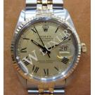 Rolex 16013 Gold Dial Roman Letter Auto 18K/SS 36mm (With Box)