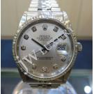Rolex 16234 Gents Silver Dial With Diamond Index 18K+SS Auto 36mm(With Box)