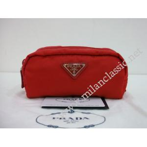 NEW - Prada Red Nylon Small Pouch