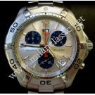 Tag Heuer Aquaracer Gents Chrono Quartz Silver Dial S/S 41mm (With Box)