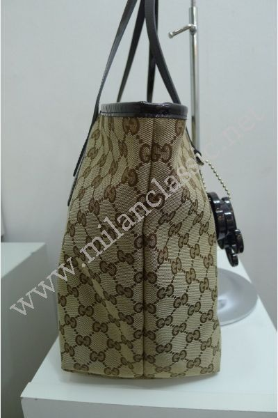 0fb5d56356c8 SOLD(已售出)Gucci Jolie Canvas Brown Leather Trim Tote NEW YEAR SALE ...