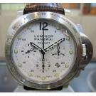 Panerai Luminor Chronograph Daylight White Dial S/S Auto 44mm PAM00251(With Card + Box)
