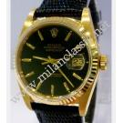 Rolex 16018 Black Index Dial Auto 18K Yellow Gold 36mm (With Box)