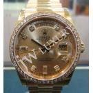 Rolex 118348 Gents Gold Diamond Dial With Diamond Bezel 18K(750) Yellow Gold Auto 36mm (with Card + Box)