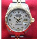 Rolex 69173 White Computerize Arabic Numerals Dial 18K+SS Auto 26mm (With Box)
