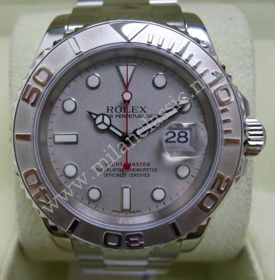 Tudor Classic Platinum: Rolex 16622 Yacht Master Gents Platinum Dial & Bezel S/S