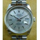 Rolex 16234 Gents Silver Dial Index 18K+SS Auto 36mm (With Box)