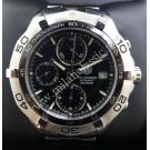 Tag Heuer Aquaracer Chrono Date Black Dial S/S Auto 41mm (With Card + Box)