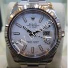 Rolex 116334 Oyster Perpetual Datejust II White Dial Index Auto 18K/SS 41mm (With Box)