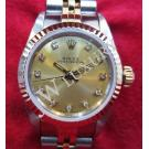 Rolex 67193 Diamond Gold Dial 18K/SS Auto 26mm (With Box)