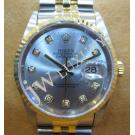 Rolex 16233 Grey Dial with Diamond Index 18K/SS Auto 36mm (With Box)