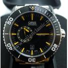 NEW - Oris-Aquis Small Second Date Black Dial Ceramic Bezel S/S Auto 46mm (With Card + Box)