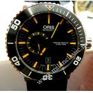 NEW - Oris Aquis Small Second Date Black Dial Ceramic Bezel S/S Auto 46mm (With Card + Box)