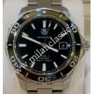 "Tag Heuer-Aquaracer Black Dial 500M Calibre 5 Auto S/S 41mm ""Ceramic Bezel"" (With Box + Card)"