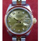 Rolex 69173 Lady Gold Dial With Diamond 18K+SS Auto 26mm (With Paper + Box)