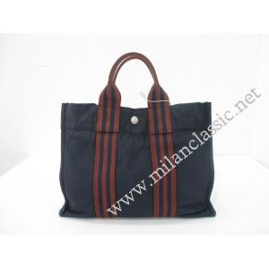 Hermes Herline Tote PM Shoppe Canvas Blue