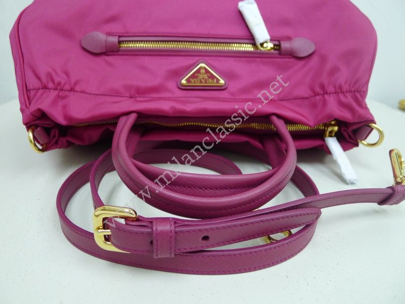 SOLD(已售出)NEW - Prada Pink Nylon Front Zip Hand Sling Bag  NEW ... 915fec5dabb7d
