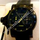 RESERVED WITH DEPOSIT - NEW-Graham Chronofighter Trigger Flyback Auto Black PVD Coating / Rubber 46mm (With Box + Paper)