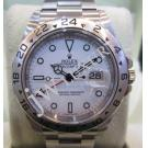 Rolex 16570 Explorer II White Dial S/S Auto 40mm (With Card + Box)