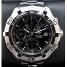 Tag Heuer- Aquaracer Chrono Date Black Dial S/S Auto 41mm (With Box)