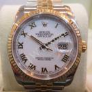 "Rolex 116233 White Roman Letter 18K+S/S Auto 36mm ""F-Series"" (With Card +  Box)"