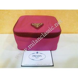 NEW - Prada Pink Cosmetic Pouch With Mirror
