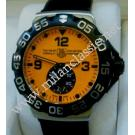 Tag-Heuer F1 Grande Date Quartz Orange Dial Steel/Rubber 44mm (With Box)
